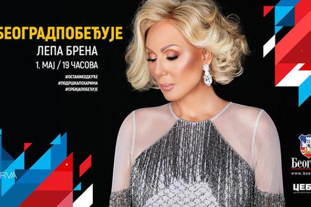 Prvomajski koncert Lepe Brene u petak, 1. maja od 19 sati ispred skupštine grada