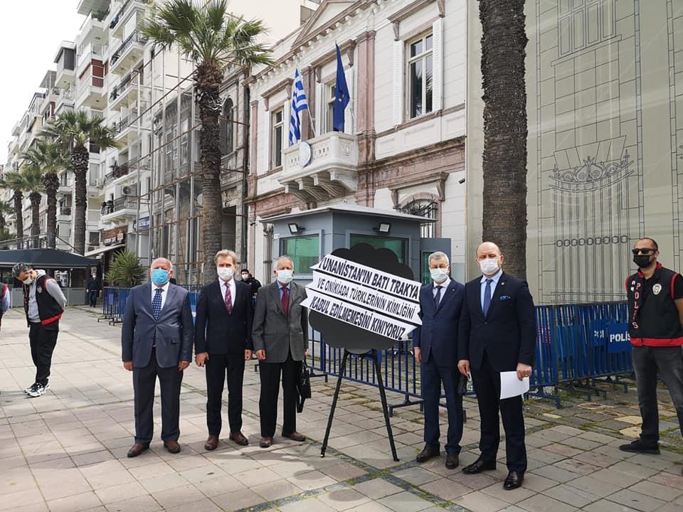 İzmir'deki Balkan Derneklerinden Yunanistan'a anlamlı tepki