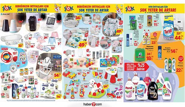 20 Ocak ŞOK aktüel kataloğu! Bebek ürünleri, tekstil, gıda, züccaciye ve temizlik ürünlerinde..