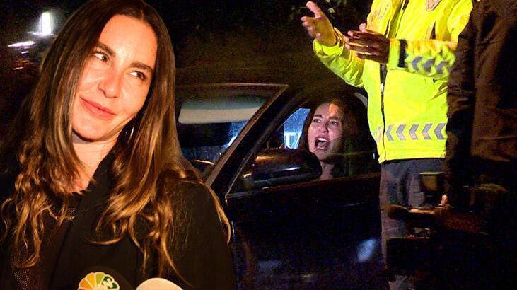Alkollü yakalanan Ece Sükan'ın ehliyetine el konuldu!