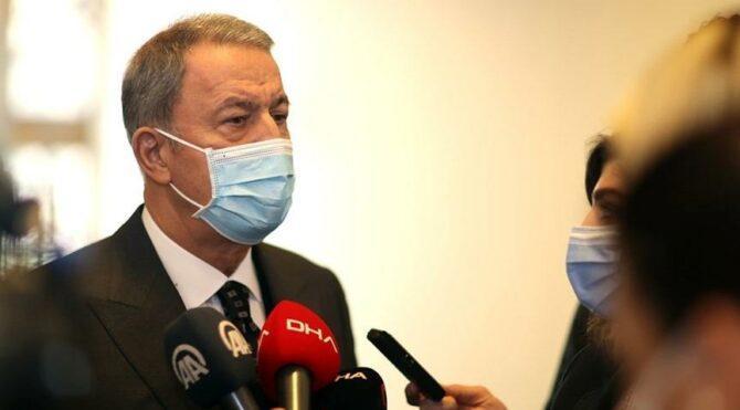 Bakan Akar: Yunanistan'ın tacizine gerekli karşılık verildi