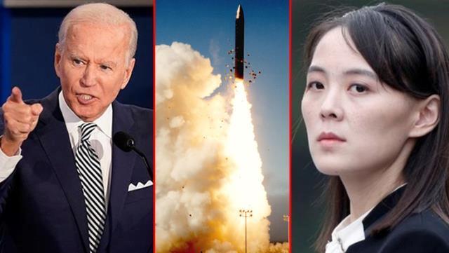 Biden döneminde bir ilk! Kuzey Kore füze fırlattı, akıllara Kim'in kız kardeşinin tehdidi geldi