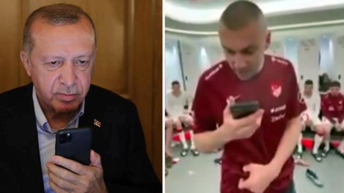 Cumhurbaşkanı Erdoğan, Hollanda maçı sonrası Burak Yılmaz'ı aradı: O ne frikikti ya