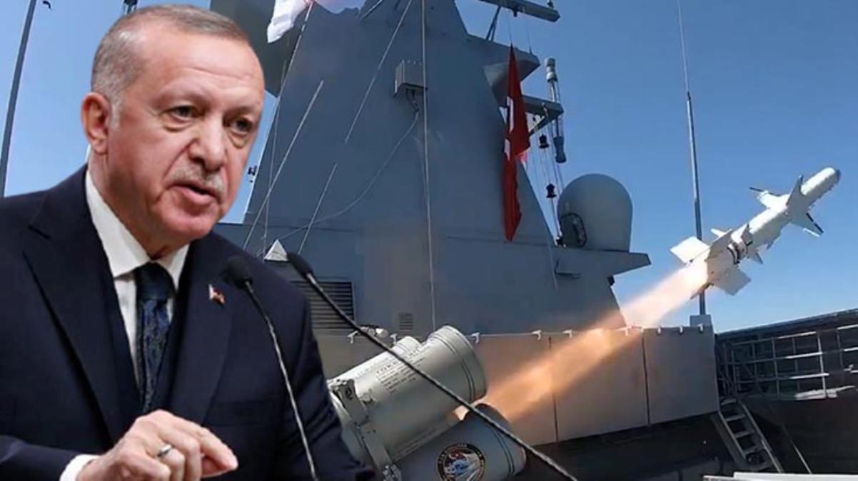 """Cumhurbaşkanı Erdoğan'dan """"Atmaca Gemisavar Füzesi"""" paylaşımı: Hedef tam isabetle vuruldu"""