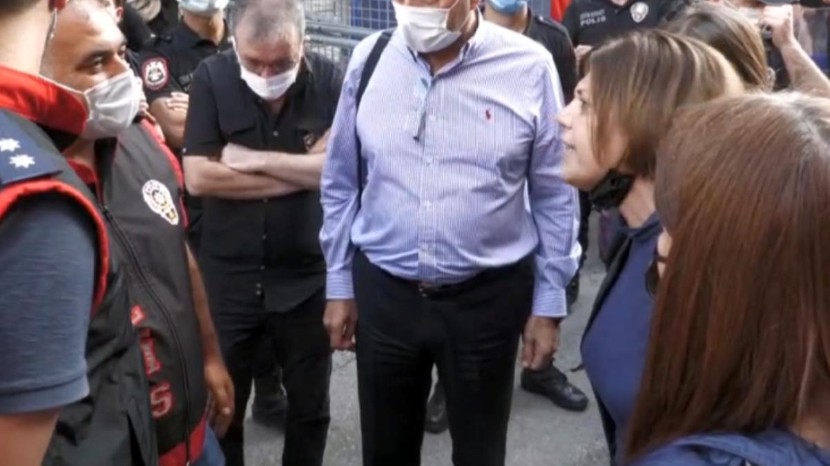 HDP'li Beştaş ile polisler arasında çadır tartışması: Silahlı saldırgan içeri girip cinayet işliyor, siz boş bir çadırı koruyorsunuz