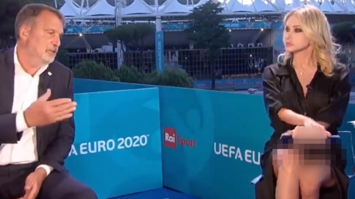 İç çamaşırı giymeyen spor sunucusuna Avrupa basını sansür uyguladı