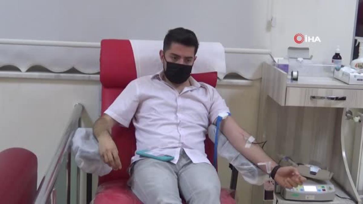 Kilis'te iftardan sonra kan bağışı