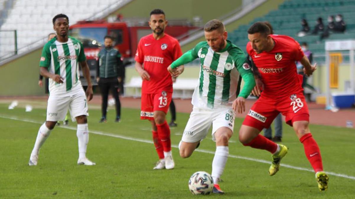 Konyaspor, konuk ettiği Gaziantep FK ile 0-0 berabere kaldı