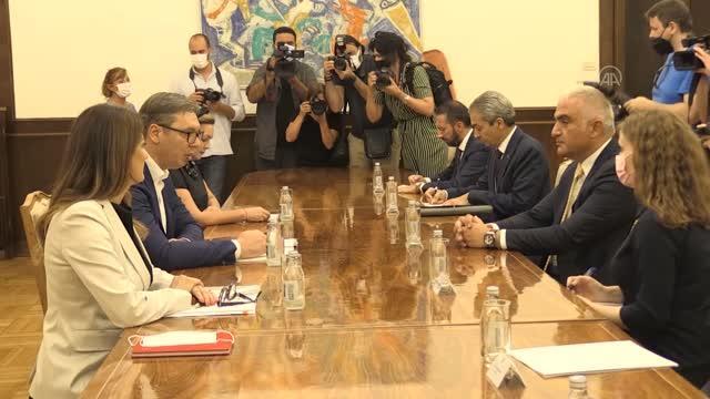 Sırbistan Cumhurbaşkanı Vucic, Kültür ve Turizm Bakanı Ersoy'u kabul etti