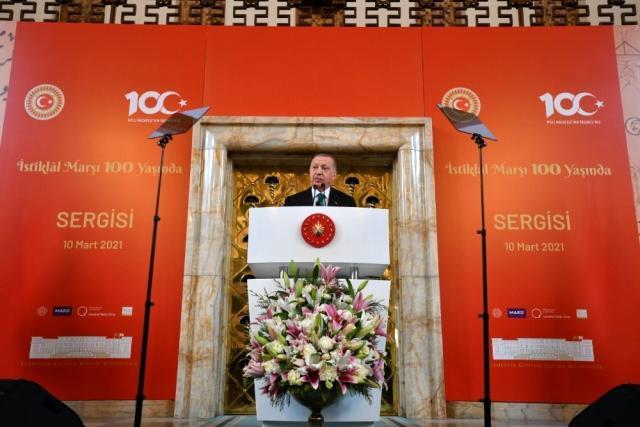 TBMM'de 100. yılında İstiklal Marşı sergisi açıldı