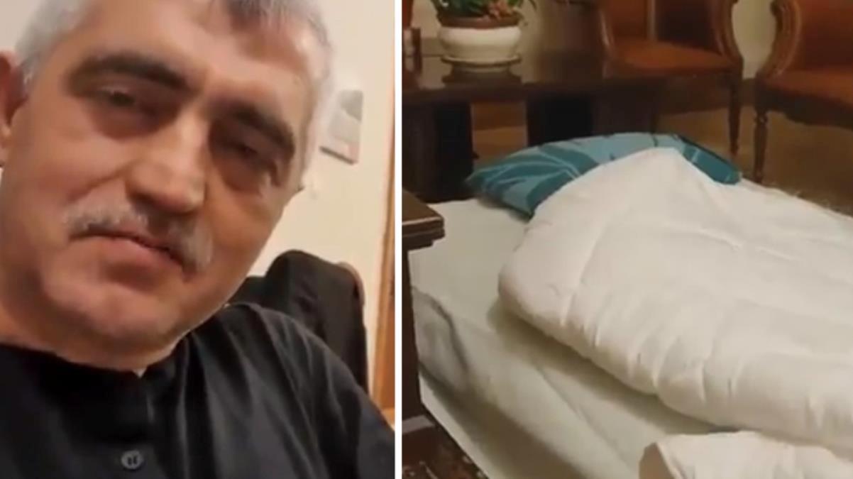 Vekilliği düşürüldükten sonra Meclis'te eyleme başlayan HDP'li Gergerlioğlu, yer yatağını gösterdi