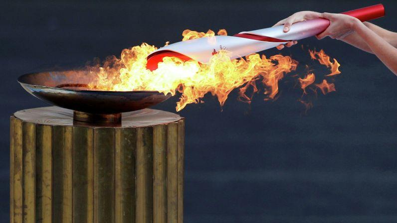 Yunanistan'da yakılan 2022 Kış Olimpiyatları meşalesi Pekin'e ulaştı