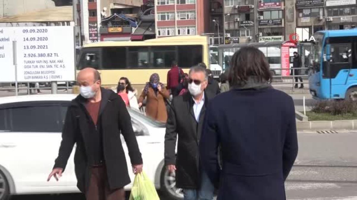 Zonguldak'ta maskeyle geçen bir yılda 39 bin pozitif vaka