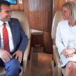 Zaev i Mogerinijeva zajedno iz Strazbura u Skoplje
