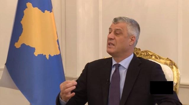 Tači: Granica između Kosova i Albanije mora da bude uklonjena