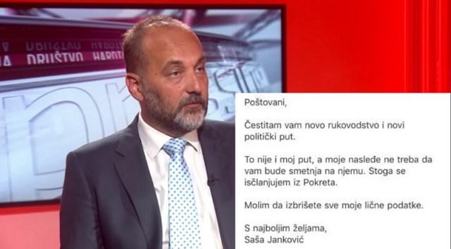 Saša Janković napustio Pokret slobodnih građana: To nije moj put…