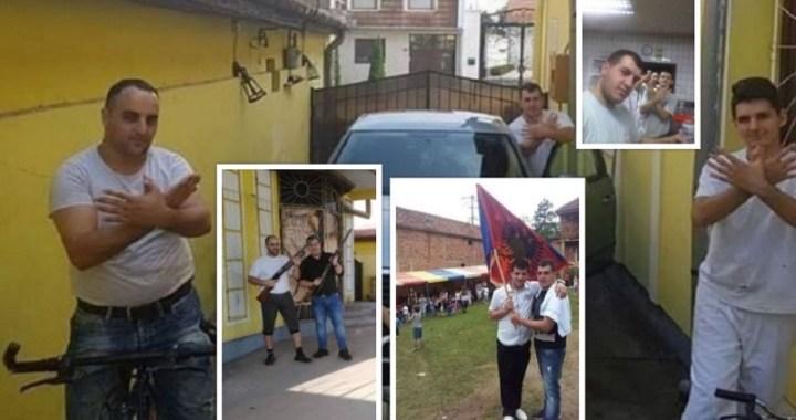 Puške, velikoalbanski crni orao i albanska zastava u sred Banata!