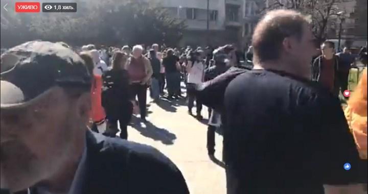 Protest ispred Predsedništva Srbije (UŽIVO)