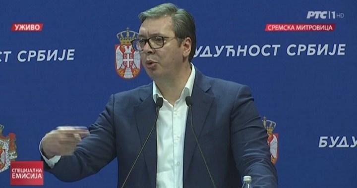 """Vučić opoziciji: Imaćete izbore, izborne uslove ste napravili vi, a za vas neće glasati ni oni koji šetaju i """"opkoljavaju"""" Predsedništvo"""