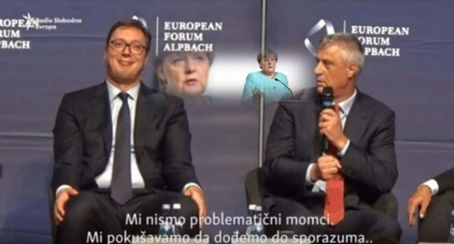 Merkel pozvala Vučića i Tačija da sahrane plan o razmeni teritorija