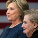 Medlin Olbrajt i Hilari Klinton 12. juna u Prištini