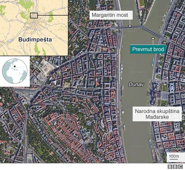 Mađarska: Sedam mrtvih u nesreći na Dunavu, potraga za nestalima i u Srbiji