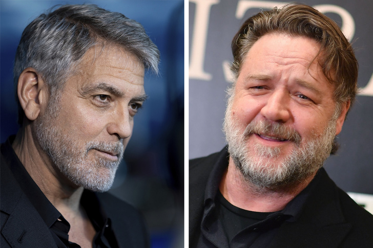 9. George Clooney Dhe Russell Crowe