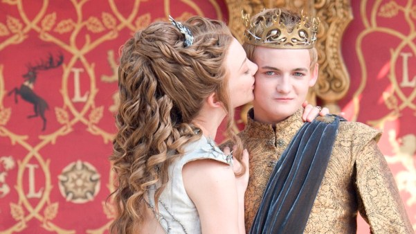 "Natalie Dormer and Jack Gleeson as Margaery Tyrell and King Joffrey Baratheon on ""Game of Thrones."""