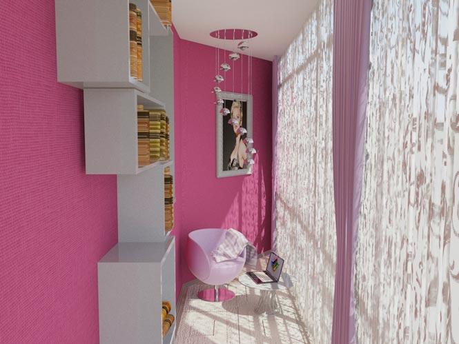 розовый балкон фото рафики