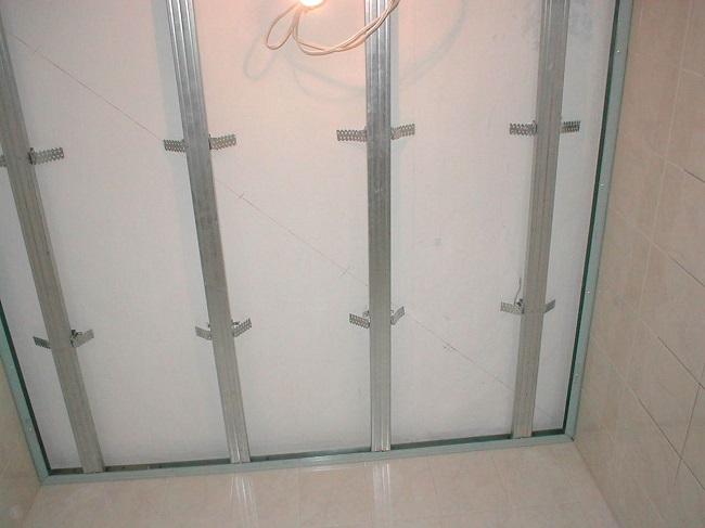Cadru sub panouri din PVC pe tavan