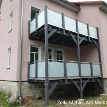 Balkonanbau mit VSG MilchglasZella-Mehlis, Am Markt