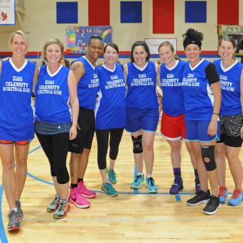 Women's Blue Team at 2018 Celebrity Basketball Games