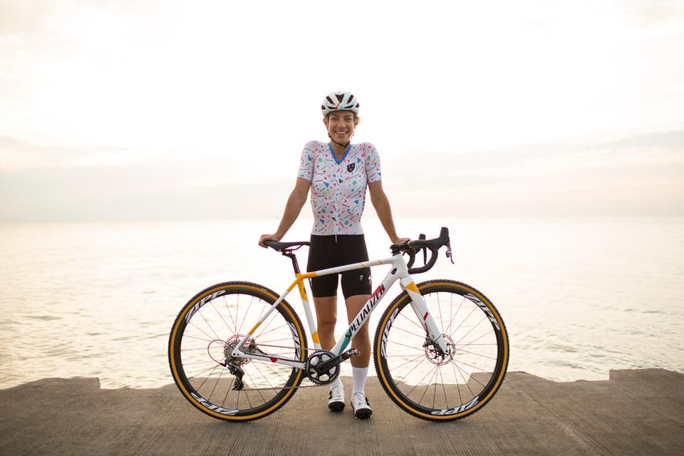Sarah Sturm and her Specialized road bike.