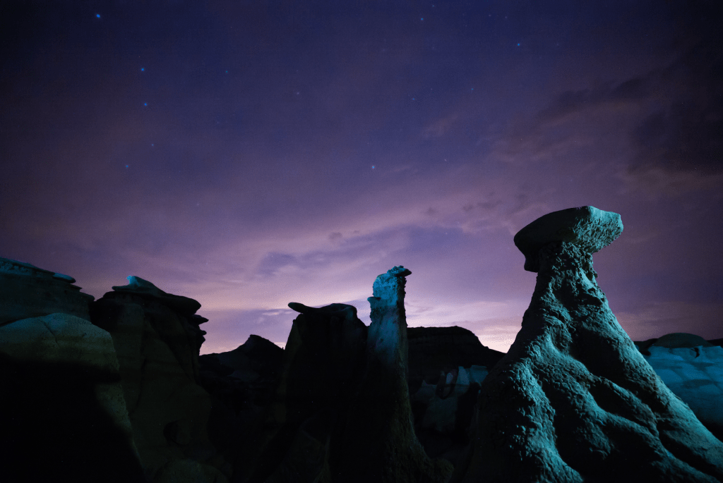 night photography bisti badlands New Mexico