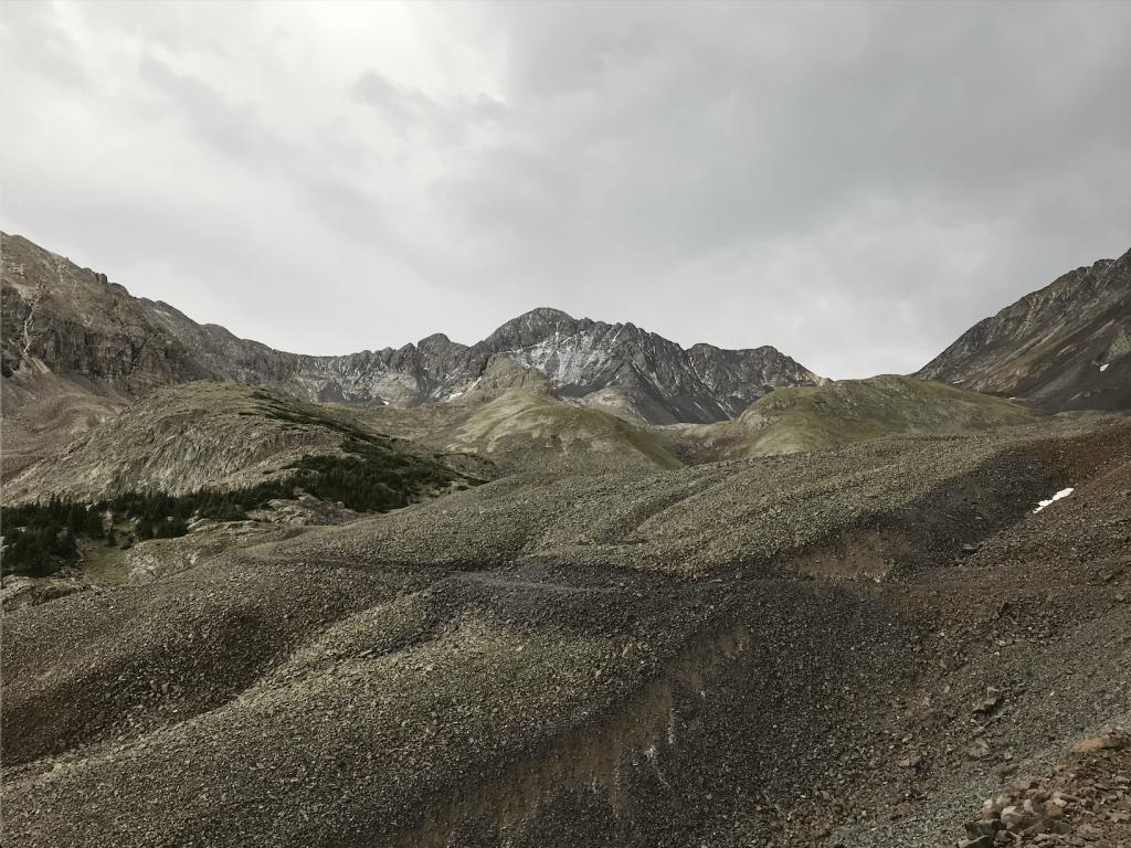 hail on Wilson Peak