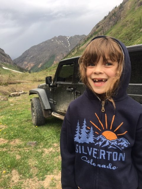 jeeping with children