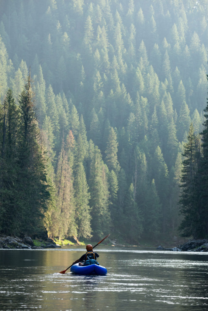 AIRE BAKraft packraft river forest