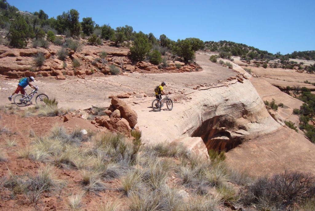 mountain biking old road west end colorado desert