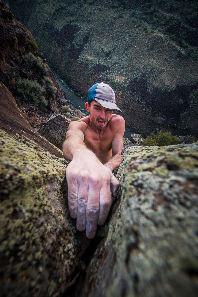 Behind the Lens: The Overhead Rock Climbing Angle