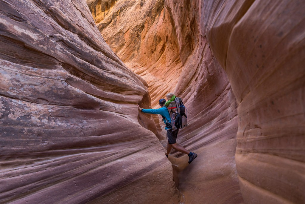 slot canyon little wild horse canyon utah hiking with children