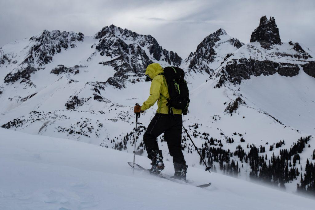 splitboarding touring mountaineering 14er