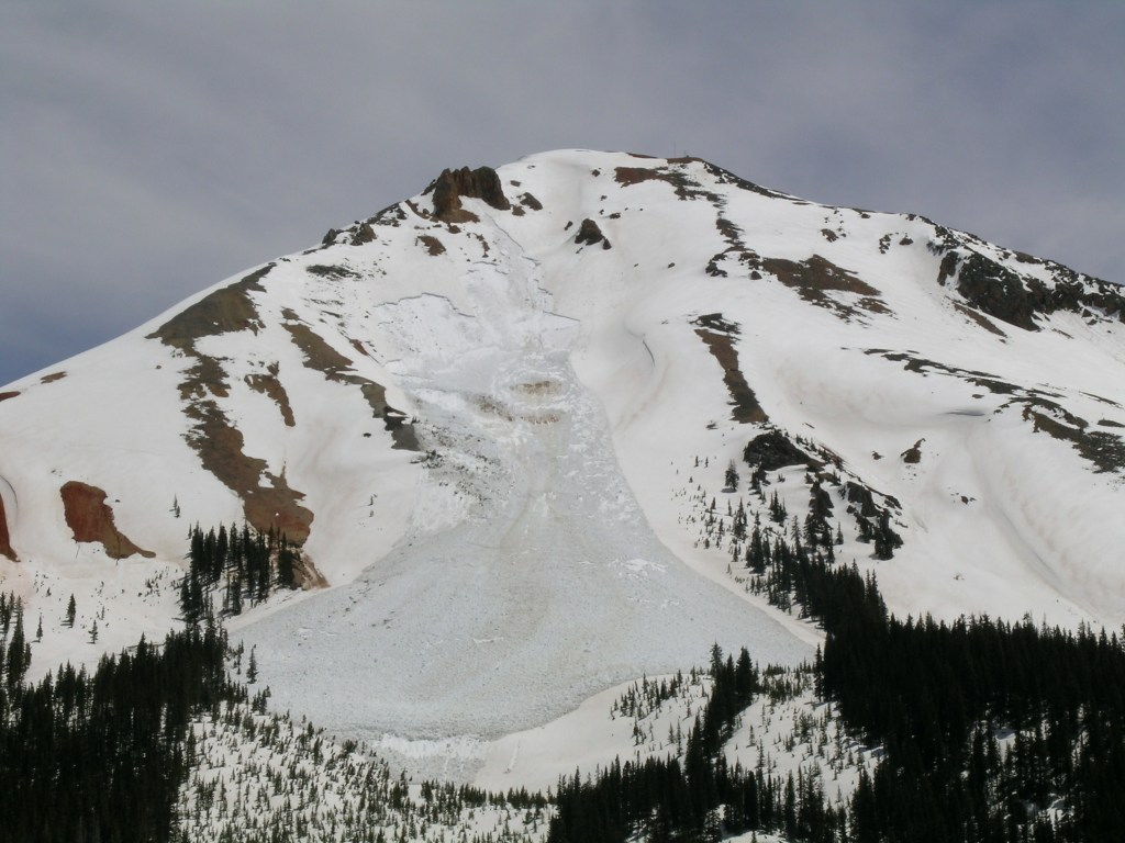 avalanche dust on snow red mountain pass