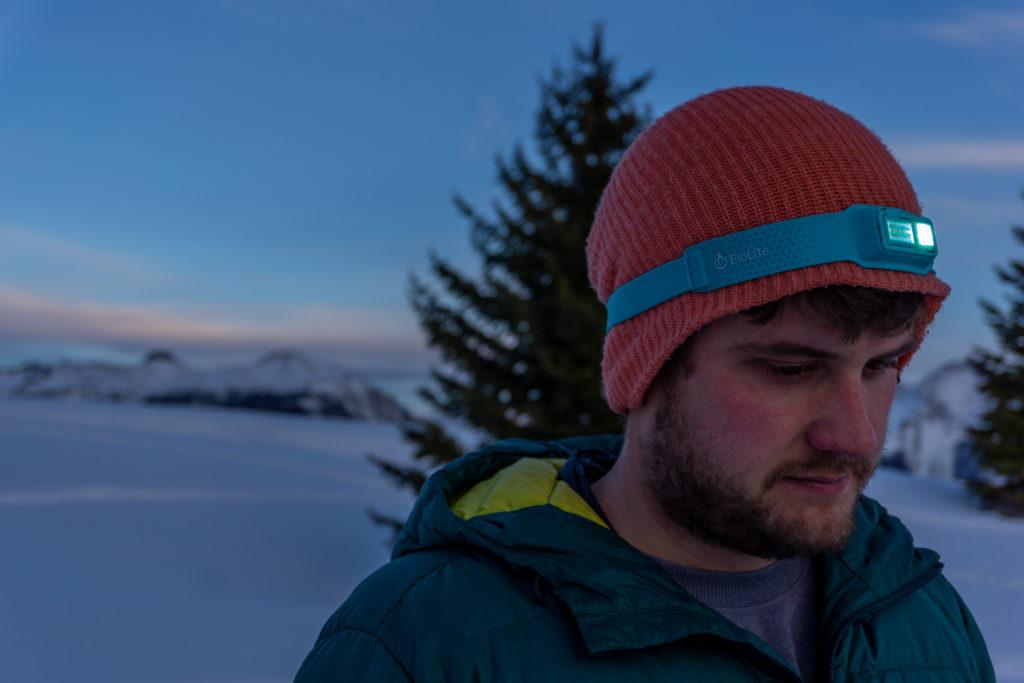 biolite headlamp 330 winter hike