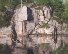 "Tomahawk Rock Acrylic on Canvas 32"" x 40"" SOLD"
