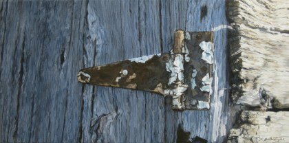 "Rustic #2 Acrylic on Canvas 8"" x 16"" Price on Request"