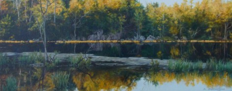 """Sun Kissed Acrylic on WC Paper 8"""" x 20"""""""
