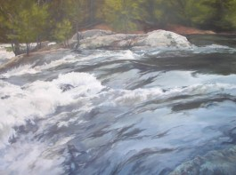 """White Waters 30""""X 40"""" Acrylic on Canvas SOLD"""