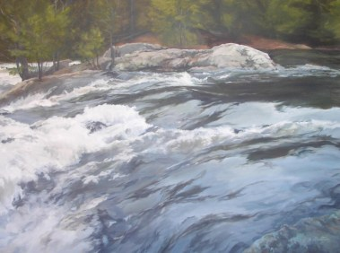 "White Waters 30""X 40"" Acrylic on Canvas"