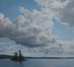 "Cloud Nine 40"" X 36"" Oil on Canvas"