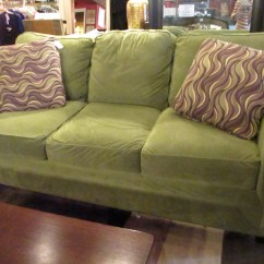 Decorating With Sage Green Sofa How To Clean Belgian Linen W Espresso Feet  Sold Ballard Consignment
